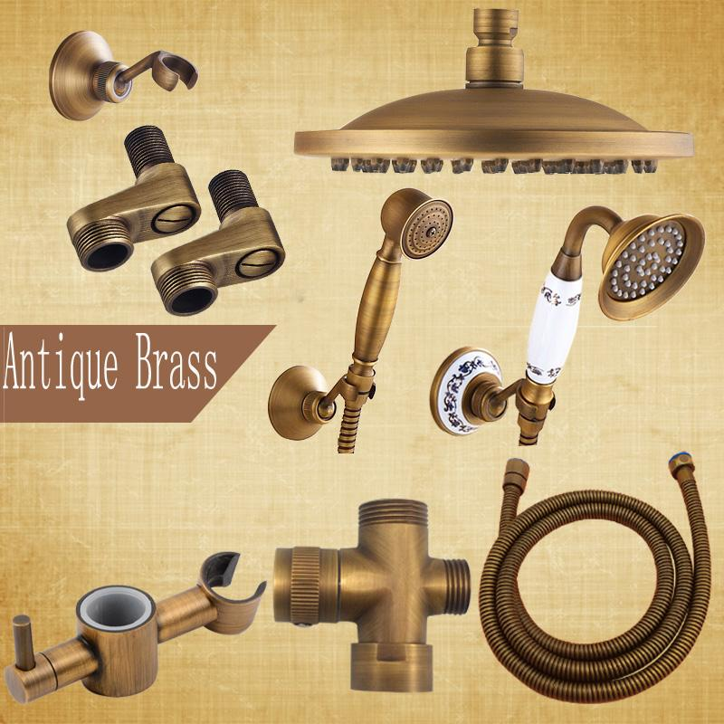 2019 Antique Brass Faucet Accessory For Shower Set 8 Rain Shower