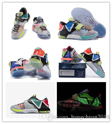 new style 33e5b b0890 Compre KD7 VII Kevin Durant Zapatos De Baloncesto Glow In Dark Para Hombre  Lo Que Los Hombres De KD7 EP Kevin Durant 7s VII Zapatos De Hombre Talla 7  12 MVP ...