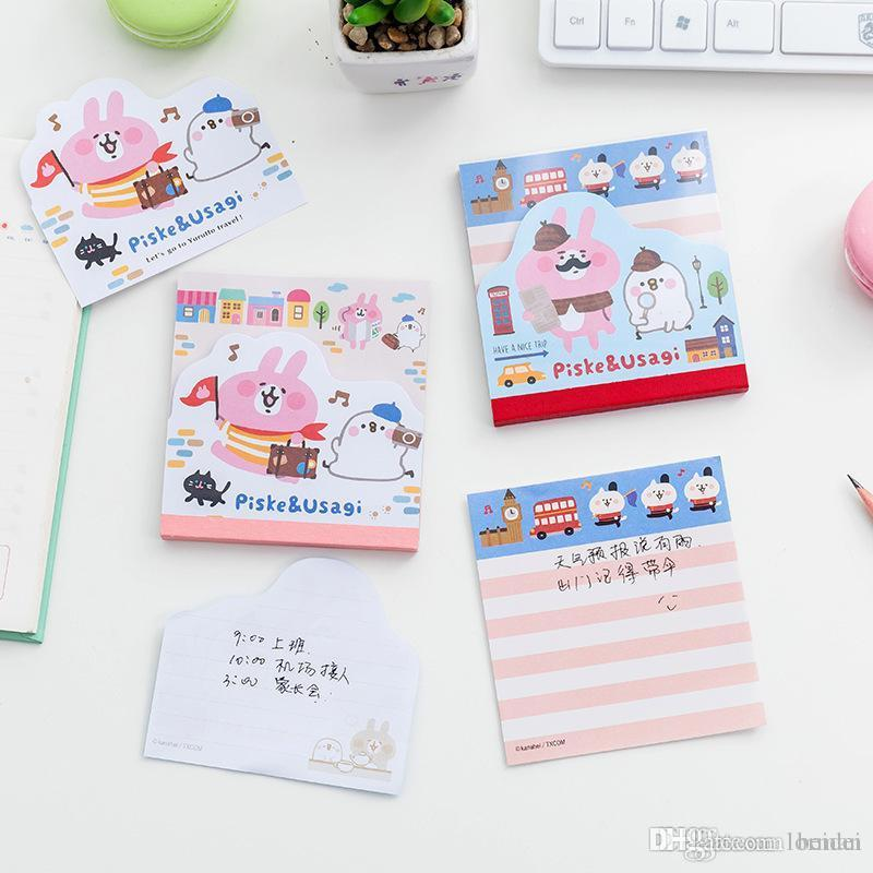 Cute Animal Bookmark Notebooks Writing Memo Pad Office School Supplies Scrapbook Stickers Kids Stationery Note Page Flags Gift Easy To Lubricate Memo Pads