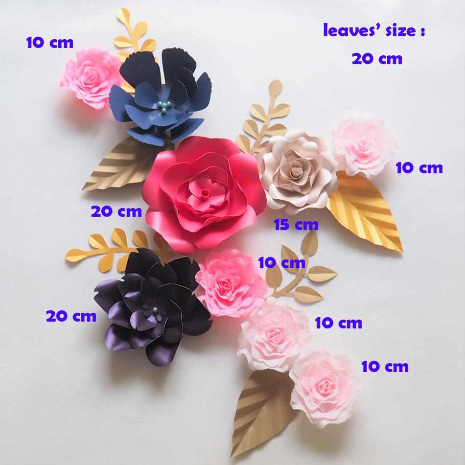 2018 giant paper flowers backdrop artificial handmade crepe paper 2018 giant paper flowers backdrop artificial handmade crepe paper rose 7 leaves for wedding party deco home decoration from diyunicornflowers mightylinksfo