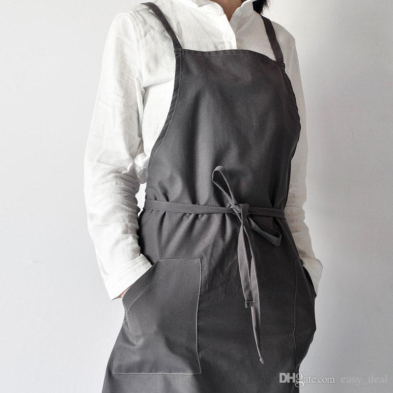 Mode gewaschen Baumwolle Schürze Blume Anordnen Division Arbeit Schürze Uniform Küche Tee Café Overalls Pinafore ZA6899