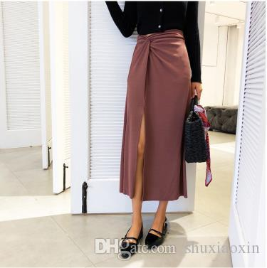 2c8ccdf533f Skirts Female in the Autumn 2018 the New Knitting Pencil Skirt A Word Skirt  of Tall Waist Show Thin MIDI French One Pace Online with  24.8 Piece on ...