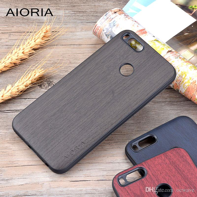 sale retailer 7eaf6 4c197 Wooden design case for Xiaomi mi a1 mi 5x soft TPU silicone material with  PC with wood PU leather skin covers coque fundas