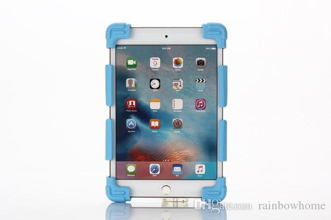 7-12inch Universal Silicone Tablet Case Protective Stand Cover Bumper Frame For iPad mini pro Samsung galaxy tab LG Tablet