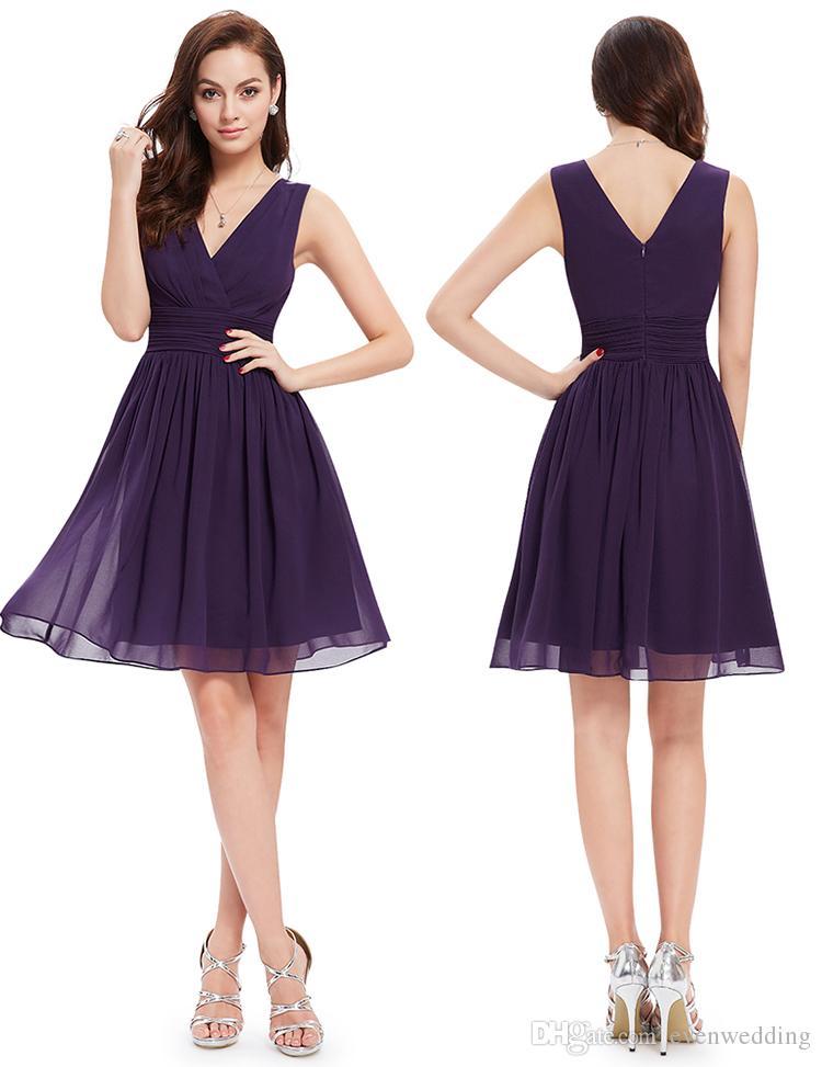 e7f112a26116 Chiffon Country Bridesmaid Dresses Knee Length Party Dresses New Short  Beach Bridesmaid Dress Burgundy Purple Royal Blue White Bridesmaid Dresses  Designer ...