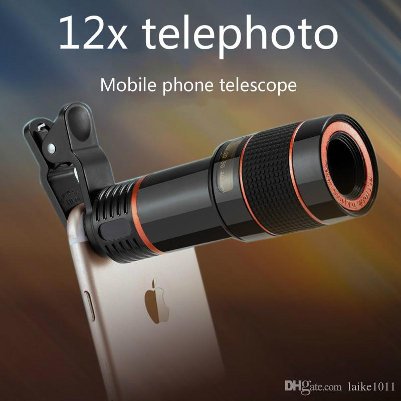 7565b858f93c66 2019 12X Long Focus Mobile Phone Lenses Zooming And Telescoping External  Mobile Phone 8 X Camera Lens For IPhone Sumsung From Laike1011, $6.04 |  DHgate.Com