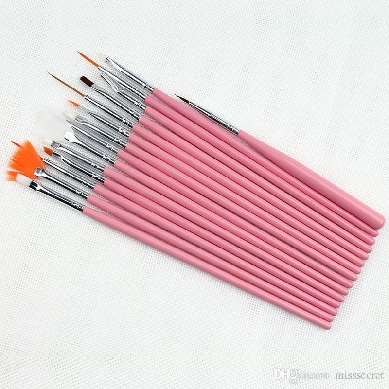 Professional UV Gel Nail Art Brushes Set Nail Design Polish Painting Drawing Pen Manicure Nail Tools
