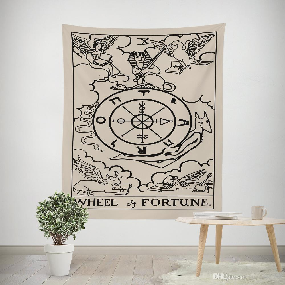 love strength fortune hanging tapestries ouija ethnic home dorm room tapestry vintage european witchcraft tapiz decor tenture