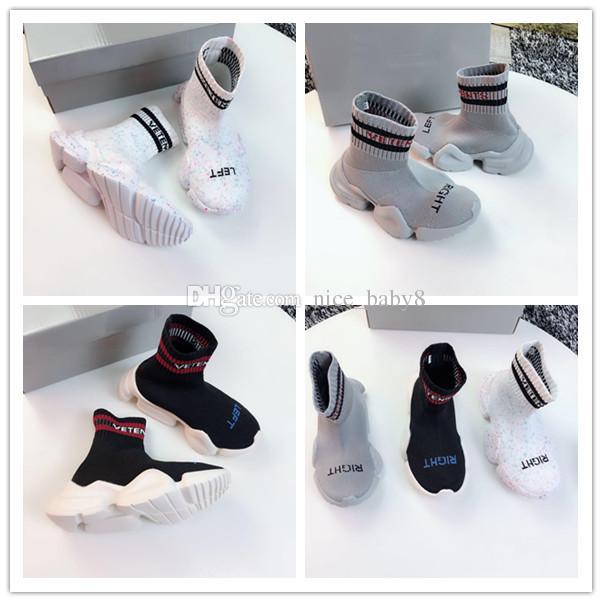Scarpa da ginnastica calza da running da corsa Scarpa da bambino per bambini con scatola Sneakers di alta qualità Calzini da allenamento da corsa