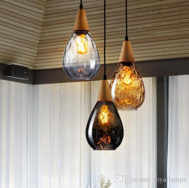 Industrielle Vintage Loft Kronleuchter Beleuchtung Wohnzimmer Küche Glas Ball Lampenschirm Glanz Shop Restaurant Decor Hängende Lampe
