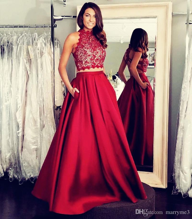a5bb7680957aa Satın Al Uzun Bordo Abiye A Hattı İki Adet Yüksek Boyun Dantel Ünlü Kırmızı  Halı Elbise Akşam Balo Parti Abiye ME068, $137.69 | DHgate.Com'da