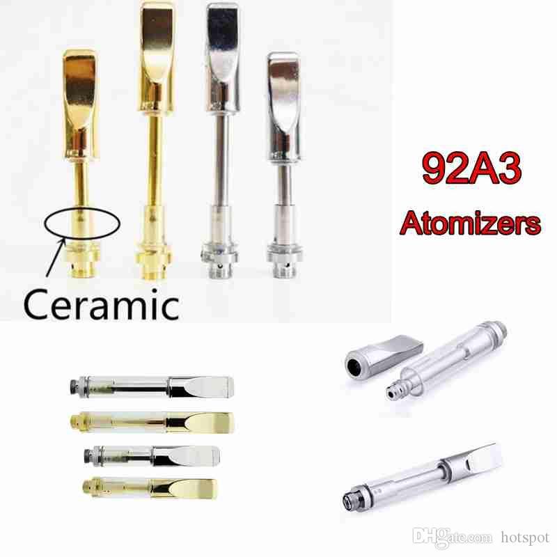 92A3 0 5ml 1ml Ceramic Vape Cartridge Vape Coils Pen Glass Thick Oil Vape  Cartridges E Cigarette For 510 Thread Battery Atomizer