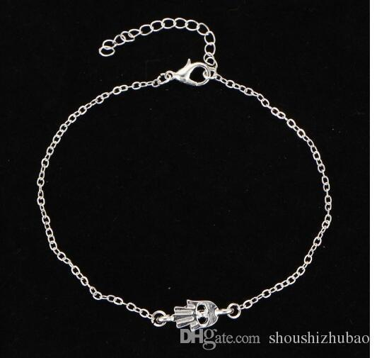 Luxury Heart Palm Anchor Pearl Infinity Alloy Foot Chain Women`s Fashion Anklet Bracelet Jewelry Set Gifts