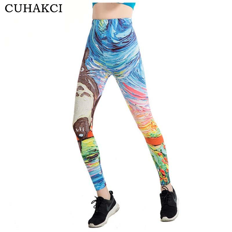 a7f80fe38233d5 2019 CUHAKCI Graffiti 3D Print Leggings Women 21 Designs Painting Legging  Fitness Floral Stripe Jeggings Scale High Stretch Leggins From Cactuse, ...