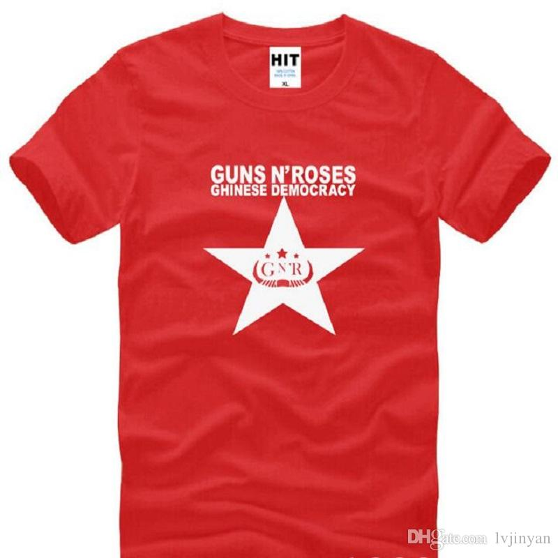 Rock Guns N' Roses Slash Printed T Shirts Men Short Sleeve O Neck Cotton Men's T Shirt Summer Fashion Rock Hip Hop Male Top Tee
