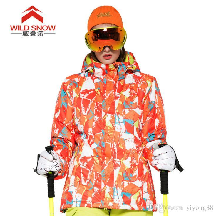WILD SNOW Women ski Jacket Waterproof Skiing Jacket Hiking Thicken Clothes Brand New Snow Clothes Winter Thermal sportscoat