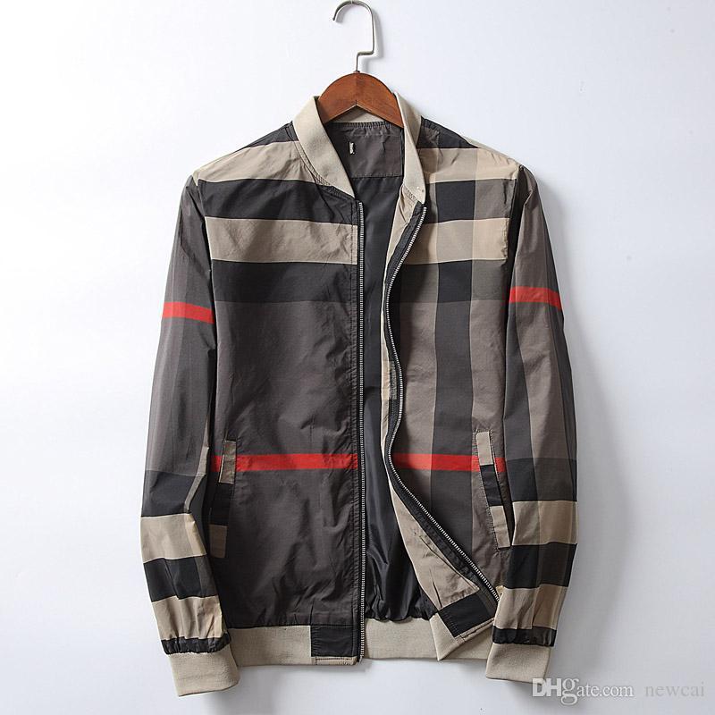 545d6d2c92a4 Fashion Jacket Casual Windbreaker Long Sleeve Cotton Blend Coats Quality  Mens Jackets Zipper Pocket Animal Flower Letter Pattern  58 Online with ...