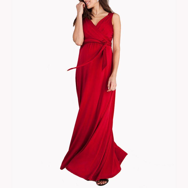 4566bc5e1fb 2019 HOT SALE Pregnant Women Evening Party Dress Elegant Summer Lady  Vestidos Maternity Clothes Plus Size Maternity Dresses From Happyislandtoy