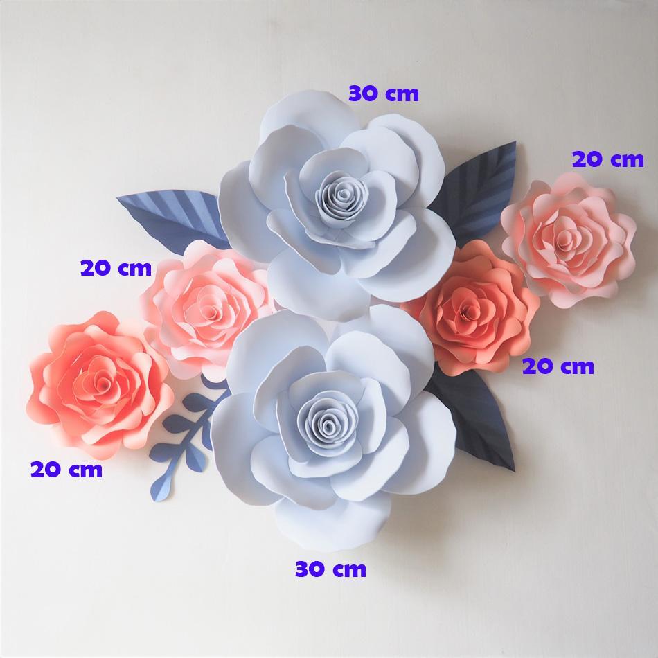 Giant Paper Foam Flowers Backdrop Artificial Handmade Flower 4