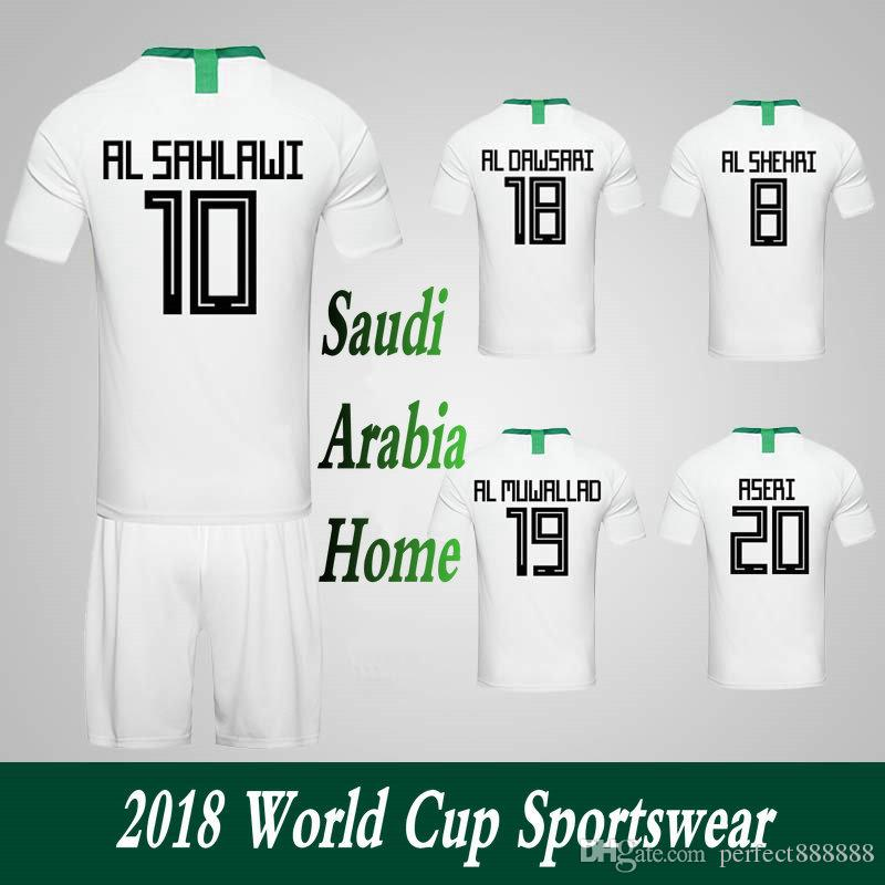 best service 9028d 9866b Men Clothing Tracksuits Saudi Arabia National Team Home Football Sport  Suits 2018 World Cup Soccer Uniform Clothes Shorts.