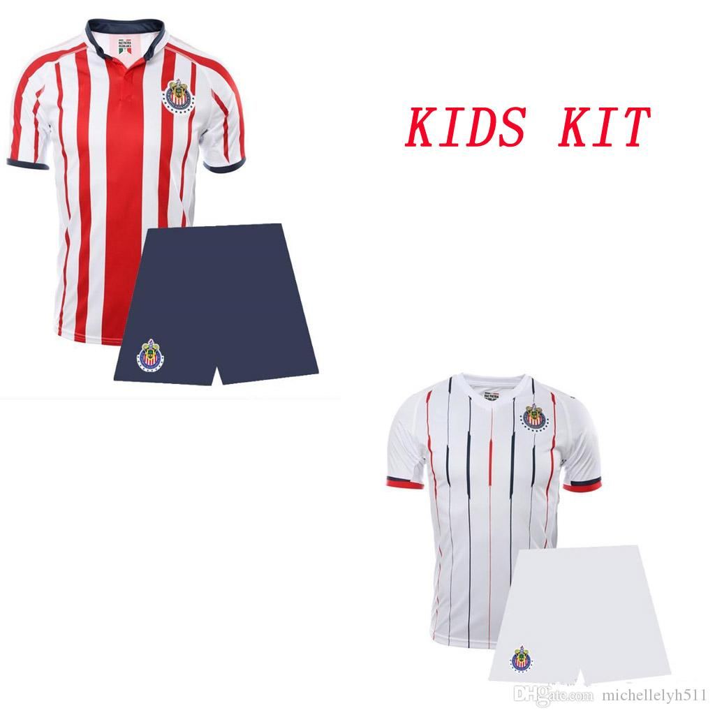 ea7659a35 2018 19 Chivas Kid s Soccer Jersey and Shorts Youth Thai Quality Football  Sets Children Sportswear Boy s Soccer Suits sports uniform