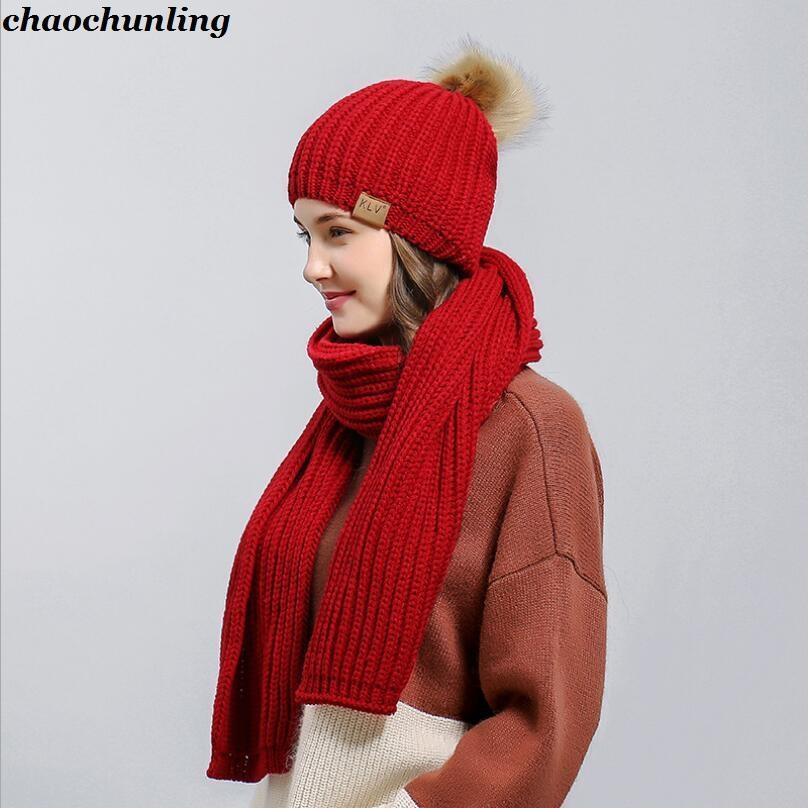 Acquista 2018 New Winter Corea Donne Maglia Cappelli Con Sciarpa Stile  Giappone Super Warm Lady Coniglio Cappelli Capelli Rosso cd335bdb0257