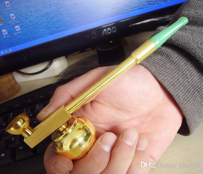 Filtro de cachimbo de água de latão seco pote velho Hanyan Rod Dual-purpose cigarro
