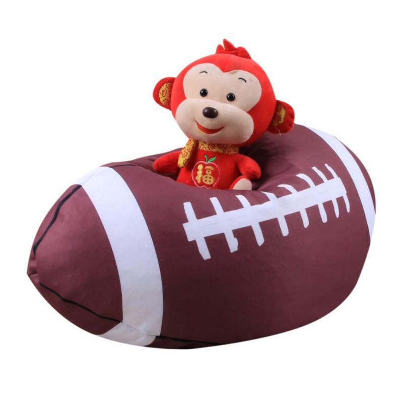 Criativo de Basquete Estilo de Futebol de Beisebol Brinquedo De Armazenamento Saco De Feijão Macio Bolsa de Tecido Kid Stuffed Animal organizador do armário de Pelúcia brinquedo de armazenamento