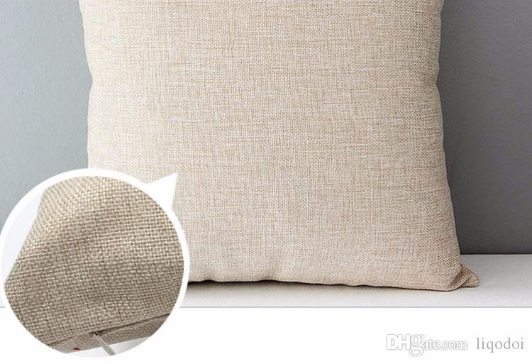 Couvre-oreiller Coussin Lin Coton Lettre Lettre LOVE Taie d'oreiller Géométrique 45X45cm Mince pour Chambre Décoratif Maison