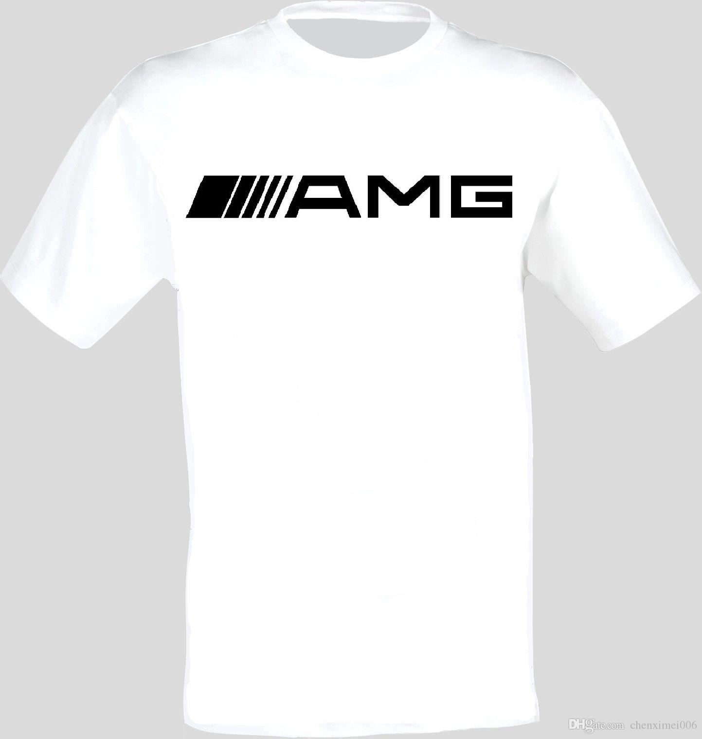 Mercedes Amg Logo Auto Cars Printed T Shirt Cotton Low Price Top Tee