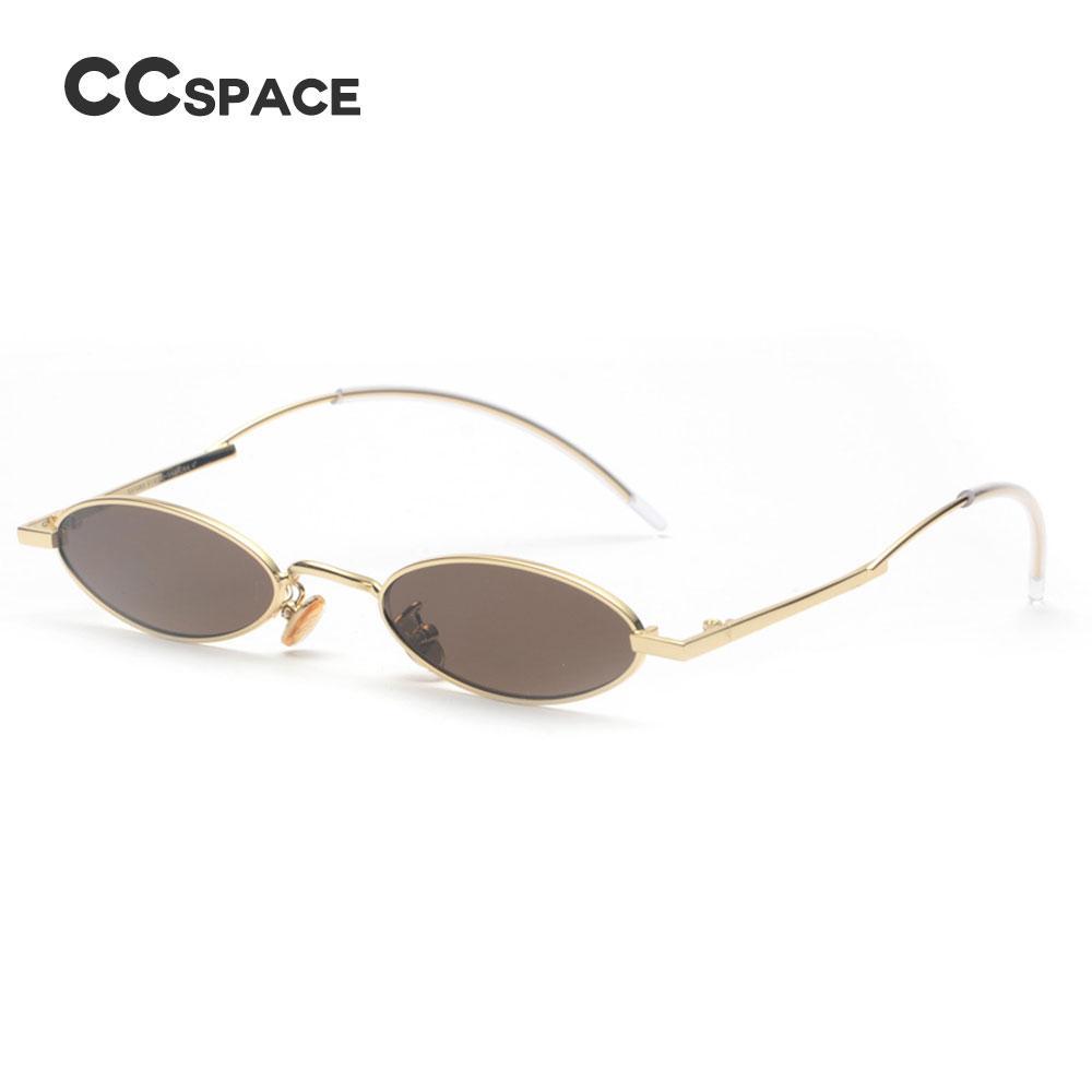 a701c11a1f 48001 Oval Metal Sexy Sunglasses Small CCSPACE Men Women Lasses Designer  Fashion Male Female Shades Designer Shades Fashion Shades Sexy Sunglasses  Online ...