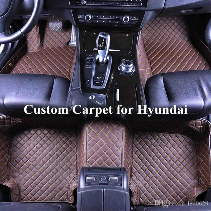 2018 Wholesale Custom Car Floor Mats For Hyundai 2011 Sonata Tucson Elantra  2017 Hunday Santafe Santa Fe 2013 Auto Floor Mat Carpets Automatten From  Leo0629 ...