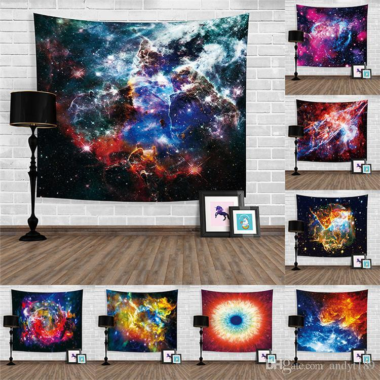 Galaxy Space living room tapestry Home Furnishing Blanket Washable 3D Beach Towel Digital Printed Shawl T3I0388