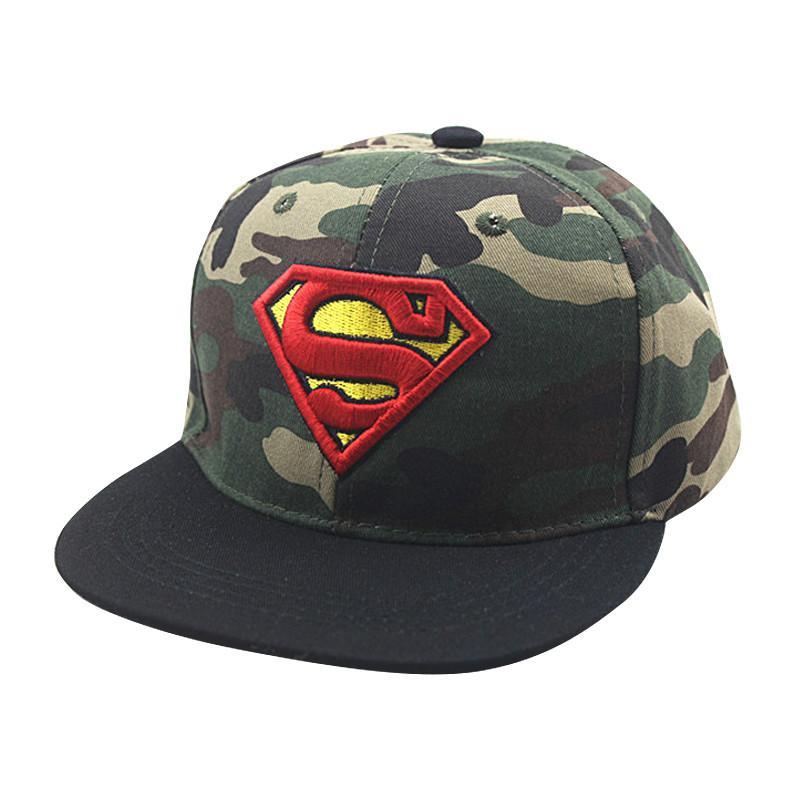 Satın Al Yeni Kamuflaj Superman Mektup Erkek Beyzbol Kapaklar Snapback  Kapaklar Yaz Örgü Şapka Çocuk Hip Hop Şapka Ayarlanabilir 1e6eb811733