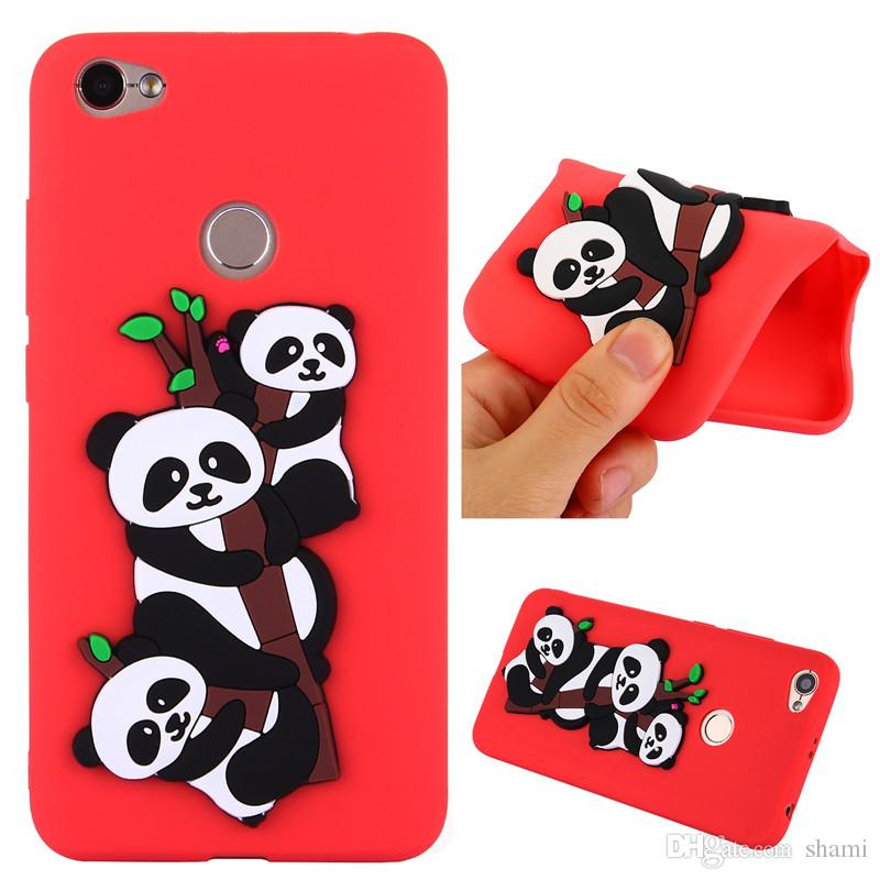 3d cute carton panda goophone phone case for xiaomi redmi note 5a redmi 4a redmi 5a case silicone soft tpu full cover caus