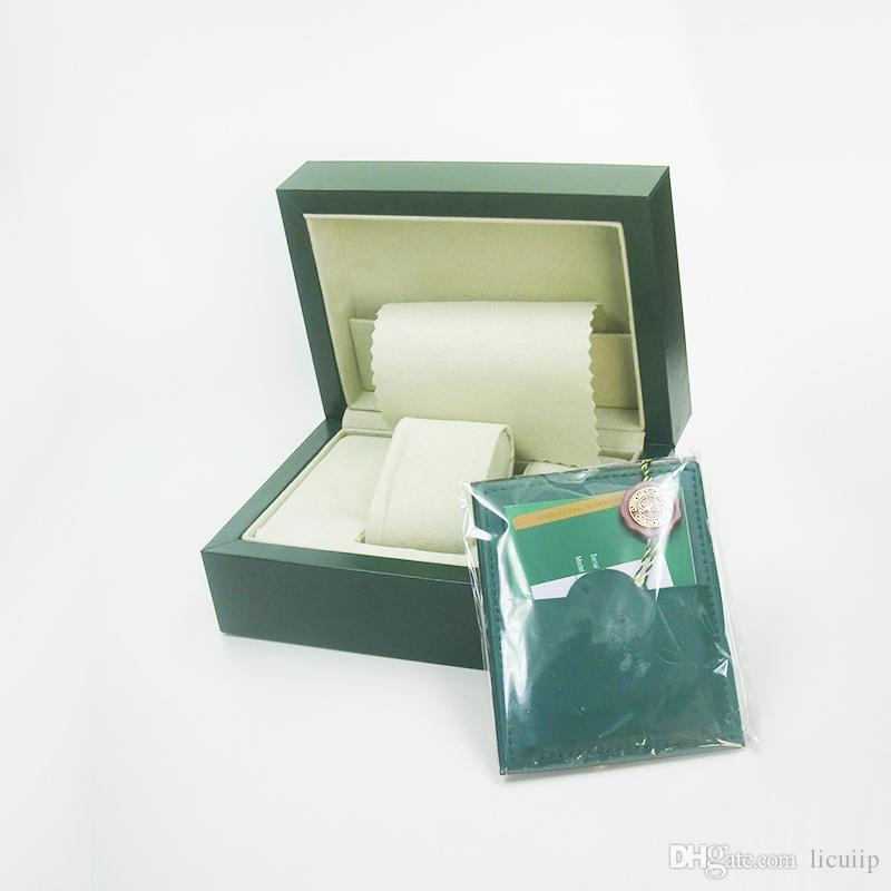 116610 116660 Luxury Green Brand Watch Original Boxes Papers Card Boxes Handbag 0.8KG for Rolex Men Men's Watch Watches Box