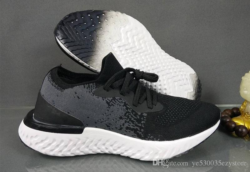 b5e3a68749ca Compre Nike Epic React Flyknit Zapatillas De Running Para Hombre Top Epic  React Fly Knit Trainers Sporting Vp Tn Plus 97 Chaussure Para Hombre Y Mujer  Nmd ...