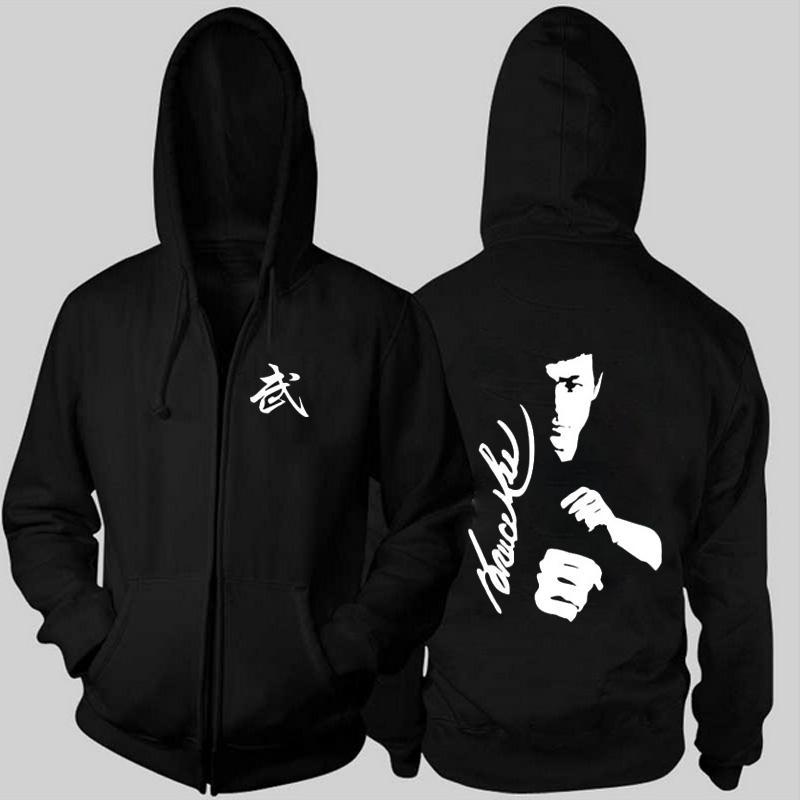 264b467cf3c 2018 Hot New Spring Coat Bruce Lee Cashmere Sweatshirts Cardigan Fleece Hooded  Men Fashion Casual Cotton Jacket Hooded Men Fighting Mens Hooded Cardigan  ...