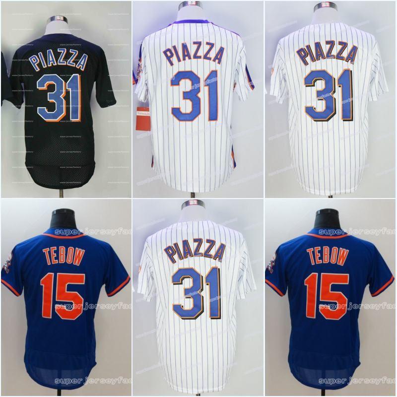 best service bbad0 0a401 Men's 2000 31 MikePiazza Baseball Jersey 15 Tim Tebow 1969 30 NolanRyan  High Quality Jerseys All Stitched