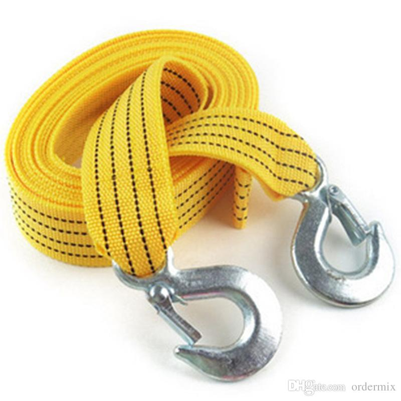 4M 3 Tons Car Rope Tow Cable Heavy Duty Towing Pull Rope Strap Hooks Van Road Recovery car styling for Heavy Duty Car Emergency