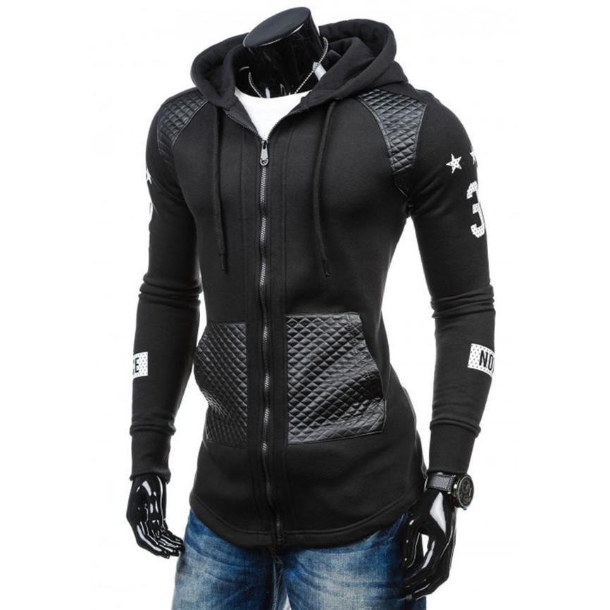 6f0ed133fba 2018 Fashion Jacket Spring Autumn Plus Size Wrap CoatMen Leather Winter  Warm Hooded Sweatshirt Coat Jacket Outwear Sweater Coat Jackets Mens Jacket  With ...