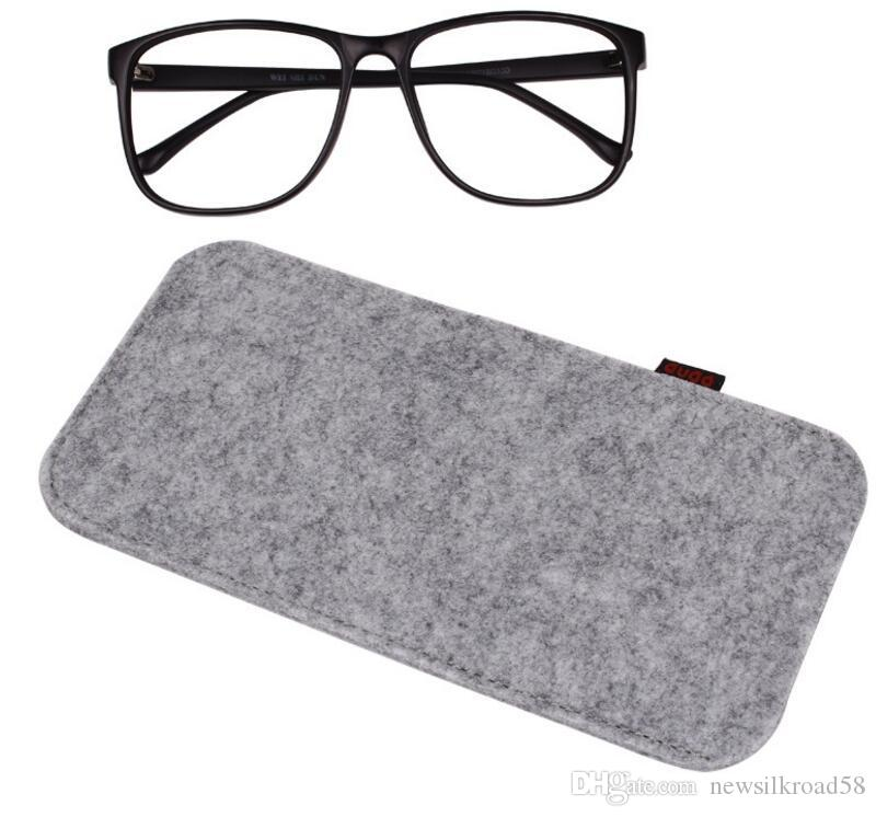 b66643a86b4 Solid Color Felt Glasses Bags Soft Portable Sunglasses Reading Glasses Cases  Rectangle Eyewear Pouch Reading Glasses Magnification Reading Glasses  Wholesale ...