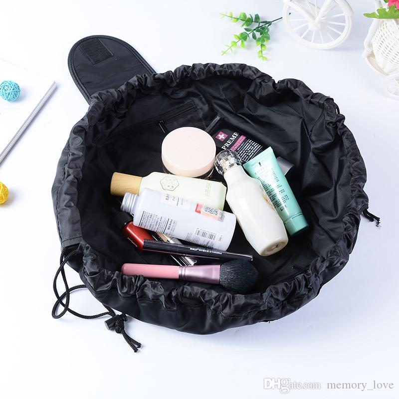 bd53ae4e10a4 Best Price 3 Colors Drawstring Cosmetic Bag Large Capacity Travel Portable  Lazy Cosmetic Bags Polyester Waterproof Make Up Pouch