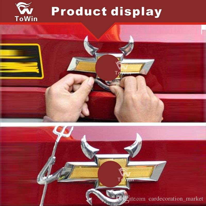 Rot Gold Schwarz Silber 3d Auto Auto Stoßstange Körper Tür Fenster Teufel Reflektierende Aufkleber Lustige Pvc Universal Film Motor Abzeichen
