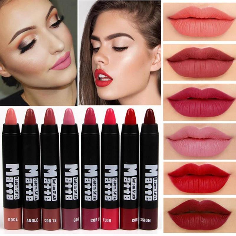 Professional Nude Matte Lipstick Pen Long Lasting Waterproof Easy To Wear  Makeup Sexy Beauty Red Lip Stick Mate Pencil Batom Cosmetics Lip Plumper  From ... 44682bdda746