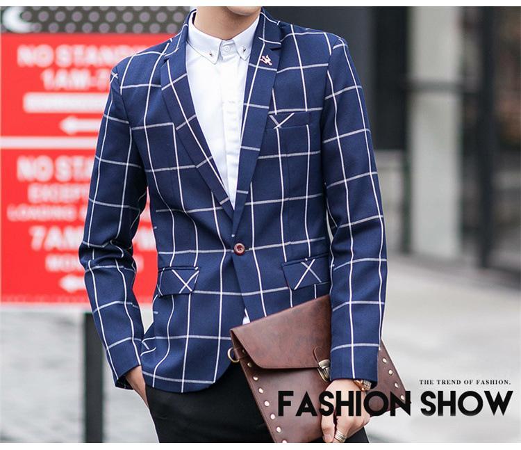 Mwxsd marka erkek Suit Blazer Erkekler Moda Slim fit blazer ceket Erkek Casual Suit Ceket Eril Blazer Boyutu M-3XL