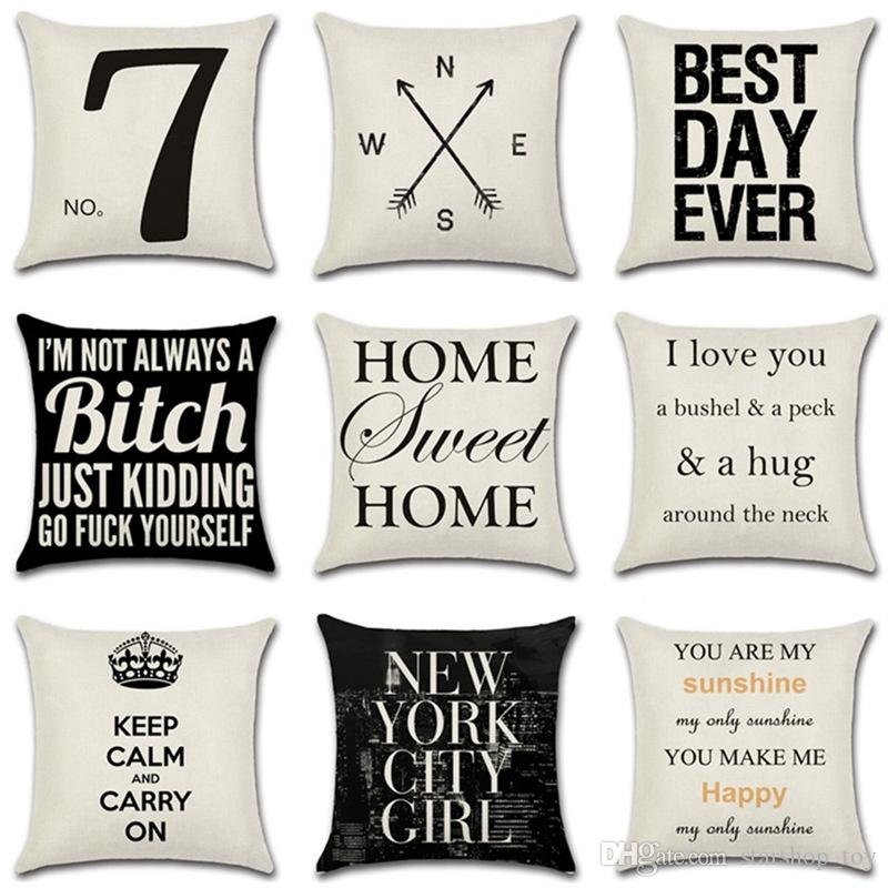4040inch Decorative Throw Pillow Case Covers Linen Cotton Blend Cool Designer Decorative Throw Pillows