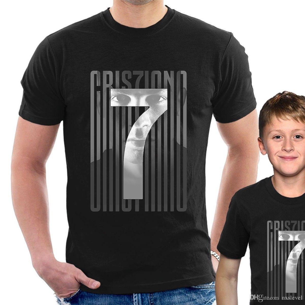 lowest price bf31a f0133 NEW CRIS7IANO CR7 JUVE T-SHIRT Cristiano Ronaldo Top tee adult & kids sizes  N37