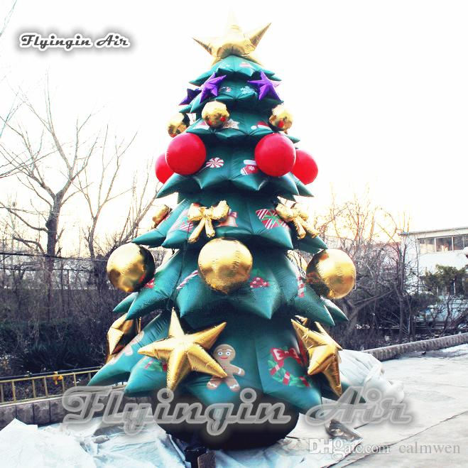 2018 outdoor inflatable christmas tree custom large airblown xmas tree with blow up ornaments for holiday decoration from calmwen 103016 dhgatecom