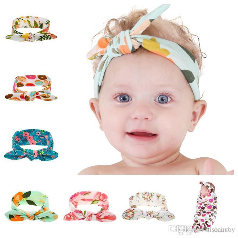 Großhandel Baby Stirnbänder Blume Haarbänder Kinder Häschen Ohr ...